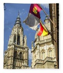 Catedral De Santa Maria De Toledo Fleece Blanket