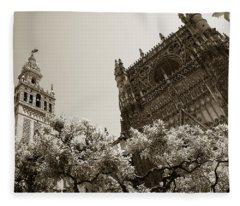 Cathedral Of Seville Fleece Blanket