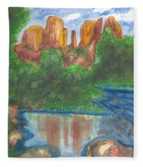 Cathedral Rock Fleece Blanket