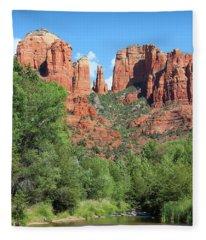 Cathedral Rock Sedona Fleece Blanket