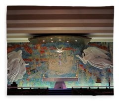 Catholic Chapel At Air Force Academy Fleece Blanket