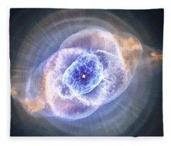 Cat's Eye Nebula Fleece Blanket