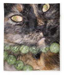 One In A Million... Beauty Of Cat's Eyes. Hello Pearl Collection Fleece Blanket