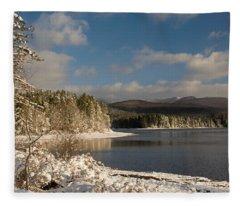 Fleece Blanket featuring the photograph Catskills Winter Morning by Nancy De Flon