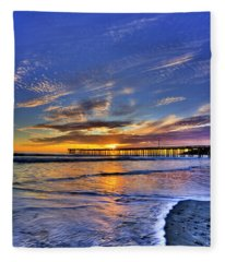 Cayucos Sunset Fleece Blanket