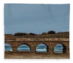 Ceasarea Aqueduct 2 Fleece Blanket