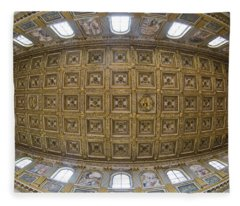 Ceiling Details Of A Church, St. Peters Fleece Blanket