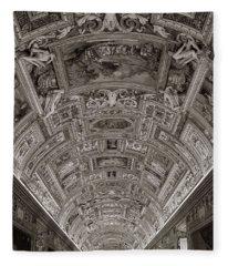 Ceiling Of Hall Of Maps Fleece Blanket