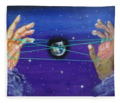 Celestial Cats Cradle Fleece Blanket