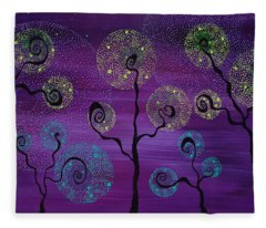 Celestial Garden Fleece Blanket