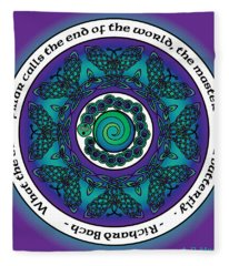 Celtic Butterfly Mandala Fleece Blanket
