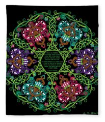 Celtic Fairy Mandala Fleece Blanket
