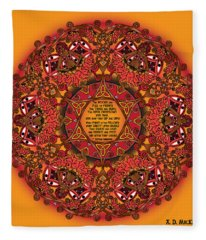 Celtic Fall Fairy Mandala Fleece Blanket