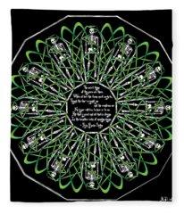 Celtic Flower Of Death Fleece Blanket