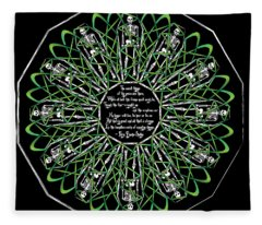 Celtic Flower Of Death Fleece Blanket