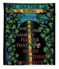 Celtic Impermanence Fleece Blanket