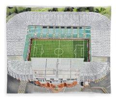 Celtic Park Stadia Art - Celtic Fc Fleece Blanket