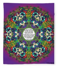 Celtic Spring Fairy Mandala Fleece Blanket