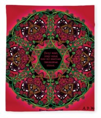 Celtic Summer Fairy Mandala Fleece Blanket