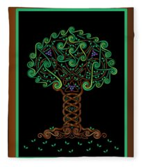 Celtic Tree Of Life Fleece Blanket