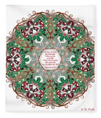 Celtic Winter Fairy Mandala Fleece Blanket