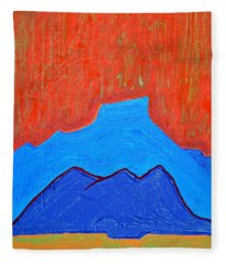 Cerro Pedernal Original Painting Sold Fleece Blanket