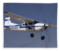 Cessna A185f N859dl Casa Grande March 3 2012 Fleece Blanket