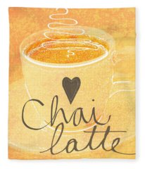 Chai Latte Love Fleece Blanket