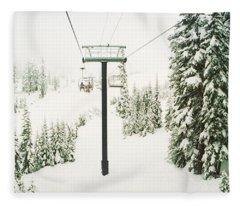 Cold Temperature Photographs Fleece Blankets