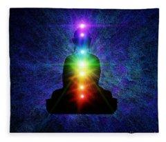 Chakra Buddha Fleece Blanket