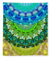 Chakra Mandala Healing Art By Sharon Cummings Fleece Blanket