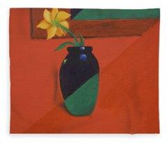 Chameleons Vase Fleece Blanket