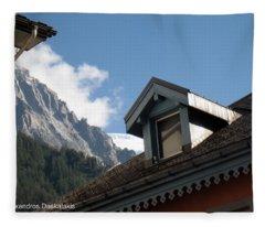 Chamonix Roofs Fleece Blanket