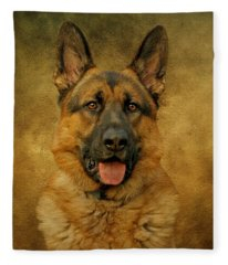 Chance - German Shepherd Fleece Blanket
