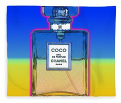 Chanel Bottle 1 Fleece Blanket