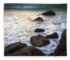 Chanteiro Beach Galicia Spain Fleece Blanket