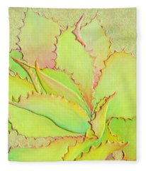 Fleece Blanket featuring the painting Chantilly Lace by Sandi Whetzel