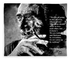 Charles Bukowski Fleece Blanket