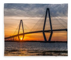 Charleston Sun Setting  Fleece Blanket