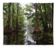 Charleston Swamp Fleece Blanket