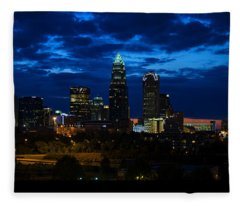 Charlotte North Carolina Panoramic Image Fleece Blanket