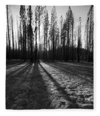 Charred Silence - Yosemite Rm Fire 2013 Fleece Blanket