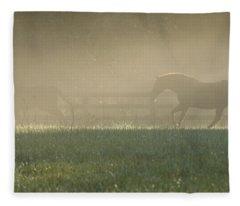 Chasing A Phantom Fleece Blanket