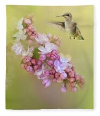 Chasing Lilacs Fleece Blanket