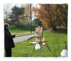 Chasing The Autumn Colors Fleece Blanket