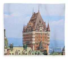 Chateau Frontenac Quebec City Canada Fleece Blanket