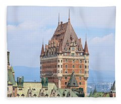 Quebec City Photographs Fleece Blankets