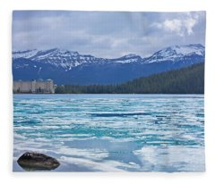Chateau Lake Louise #2 Fleece Blanket