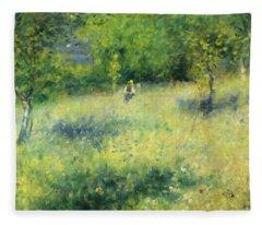 Chatou After Renoir Fleece Blanket