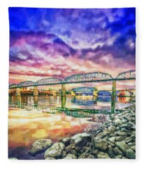 Chattanooga Reflection 1 Fleece Blanket